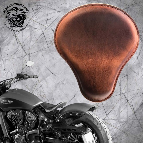 "Bobber Solo Seat for Indian Scout since 2017 ""Standard"" Vintage Brown"