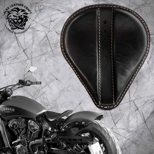 "Selle bobber solo pour Indian Scout ab 2017 ""Drop"" moiety noir"