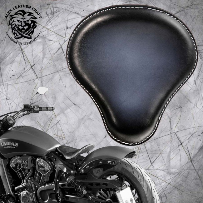 "Bobber Solo Seat for Indian Scout since 2017 ""Standard"" Black and White"