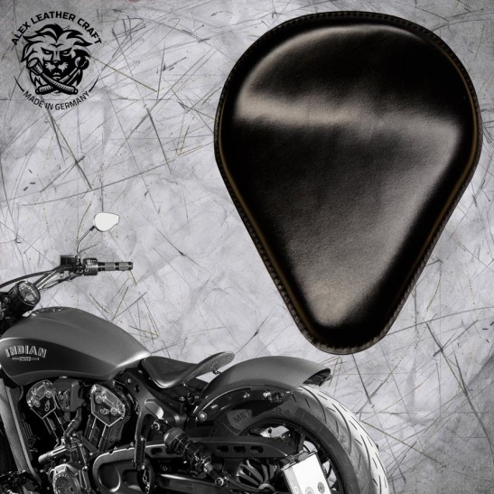 """Bobber Solo Seat for Indian Scout since 2017 """"Drop"""" Black"""