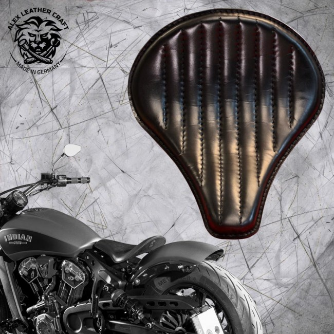 "Selle bobber solo pour Indian Scout ab 2017 ""Long"" noir V2"