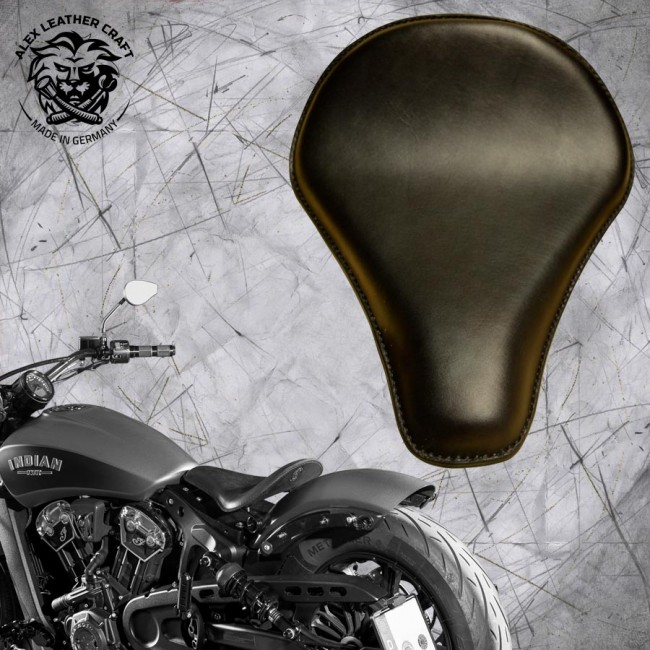 "Selle bobber solo pour Indian Scout ab 2017 ""Long"" noir"