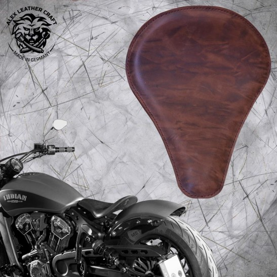 "Bobber Solo Seat for Indian Scout since 2017 ""Long"" Buffalo Mocca"
