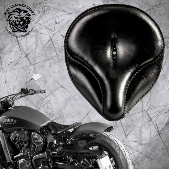 "Selle bobber solo pour Indian Scout ab 2017 ""Old time"" noir"