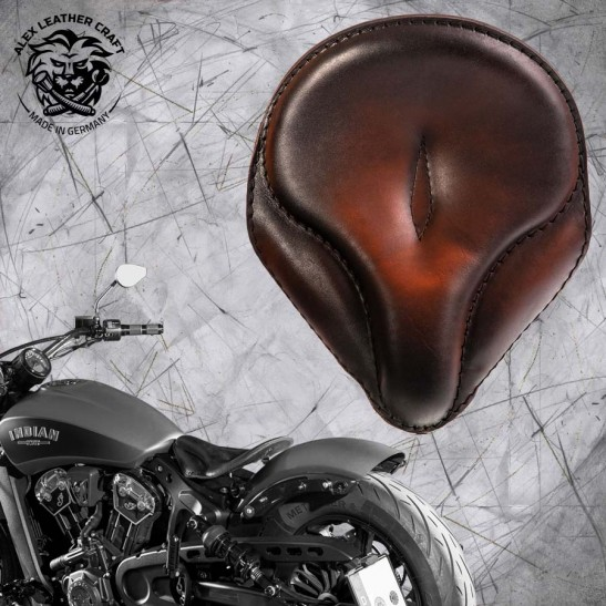 "Selle bobber solo pour Indian Scout ab 2017 ""Old time"" vintage tan"