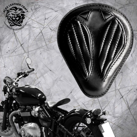 Triumph Bonneville Bobber Seat since 2016 ''Drop'' Black V2