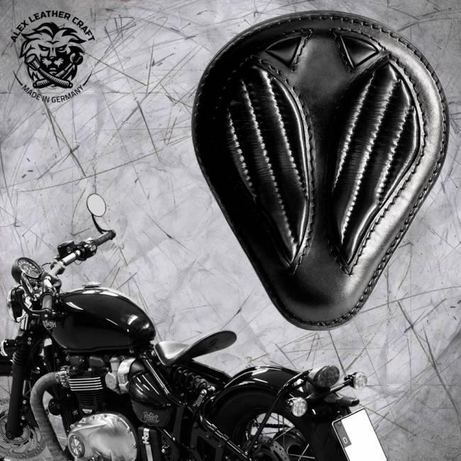 Triumph Bonneville Bobber Selle de 2016 ''Drop'' Noir V2
