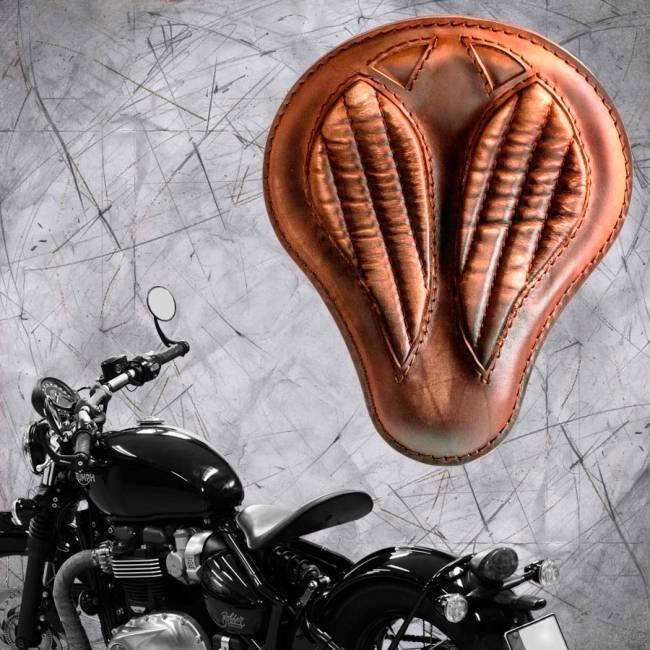 """Triumph Bonneville Bobber Seat since 2016 """"Standard'' Short Vintage Brown V2"""