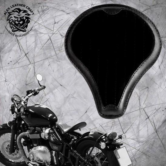"""Triumph Bonneville Bobber Seat since 2016 """"Long"""" Gloss and Velvet Black V2"""