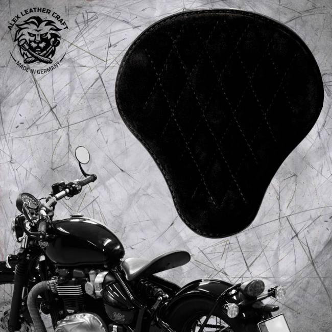 """Triumph Bonneville Bobber Seat since 2016 """"Standard"""" Velvet Black V3"""