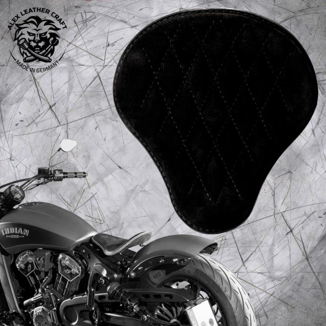 "Bobber Solo Seat for Indian Scout since 2017 ""Standard"" Velvet Black V3"