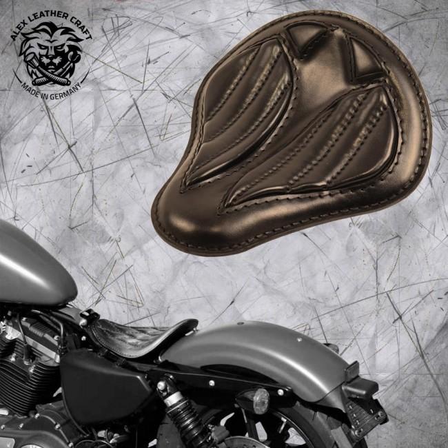 """Solo Sitz Harley Davidson Sportster 04-20 """"Kurz"""" Schwarz V2"""