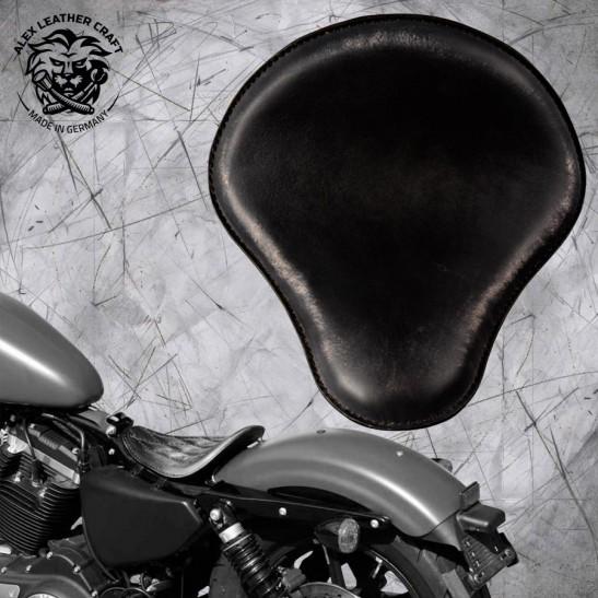 Solo Sitz Harley Davidson Sportster 04-20 Vintage Schwarz