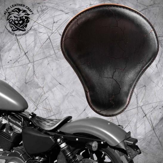 Solo Selle Harley Davidson Sportster 04-20 Vintage Noir Électro