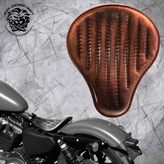 Solo Seat Harley Davidson Sportster 04-20 Vintage Brown V2