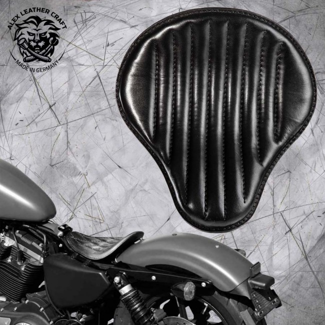 Solo Seat Harley Davidson Sportster 04-20 Black V2