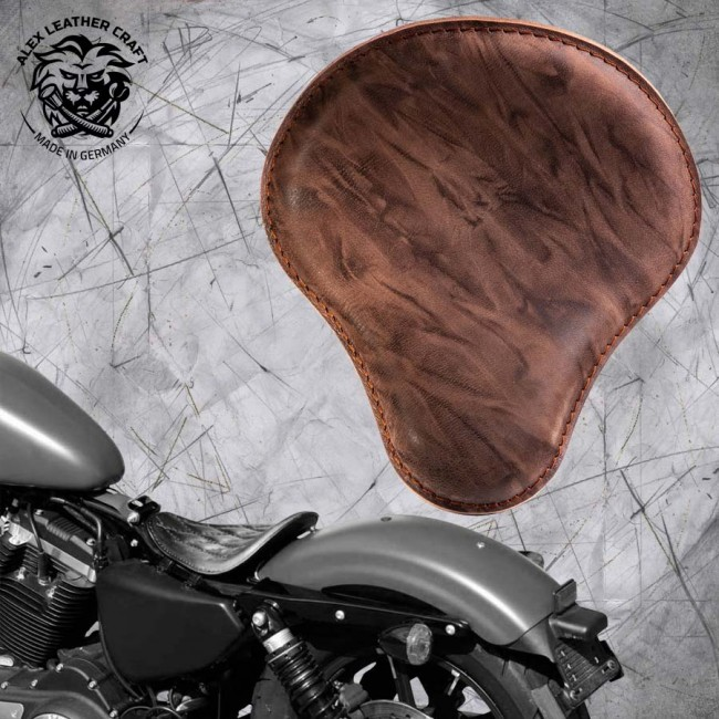 Solo Sitz Harley Davidson Sportster 04-20 Büffel Mocca