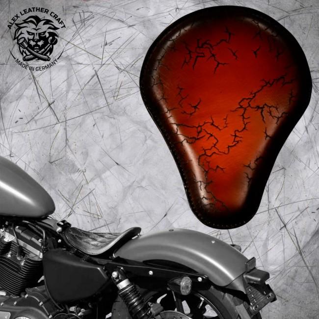 Solo Sitz Harley Davidson Sportster 04-20 Sattel Tan Electro