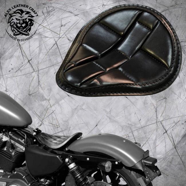 """Solo Sitz Harley Davidson Sportster 04-20 """"Schildkröte"""" Schwarz"""