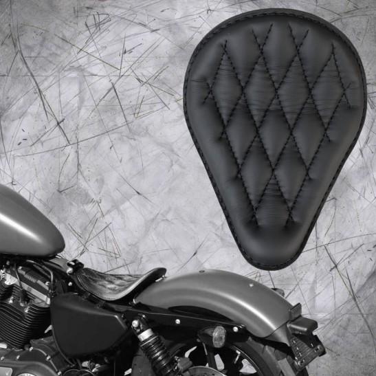 Solo Sitz Harley Davidson Sportster 04-20 Schwarz V3