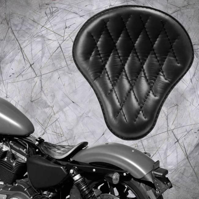 Solo Seat Harley Davidson Sportster 04-20 Black V3