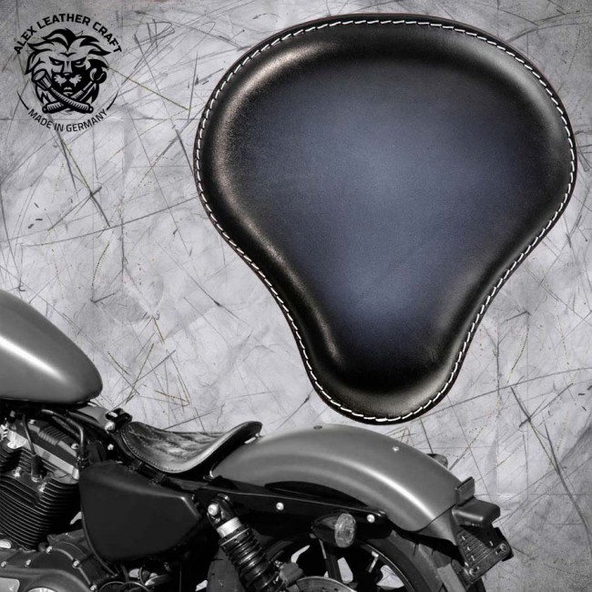 Solo Seat Harley Davidson Sportster 04-20 Black and White