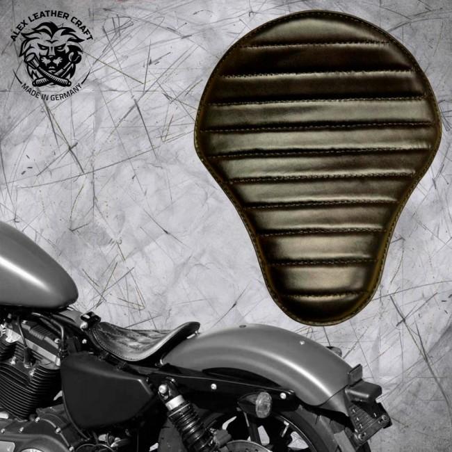 Solo Seat Harley Davidson Sportster 04-20 Black V1