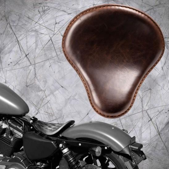 Solo Selle Harley Davidson Sportster 04-20 Buffalo Foncé Marron