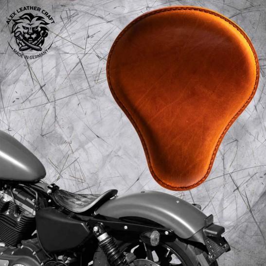 Solo Sitz Harley Davidson Sportster 04-20 Büffel Cognac