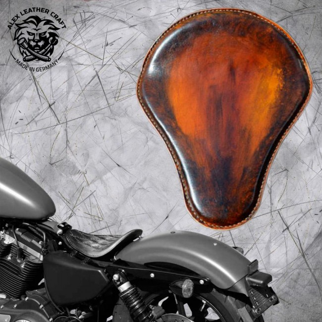 Solo Seat Harley Davidson Sportster 04-20 Crazy Boom