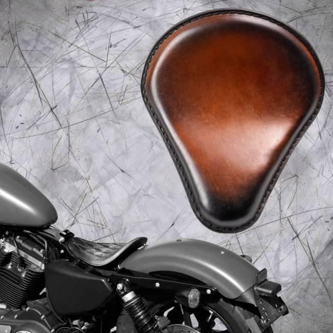 Solo Sitz Harley Davidson Sportster 04-20 Sattel Tan