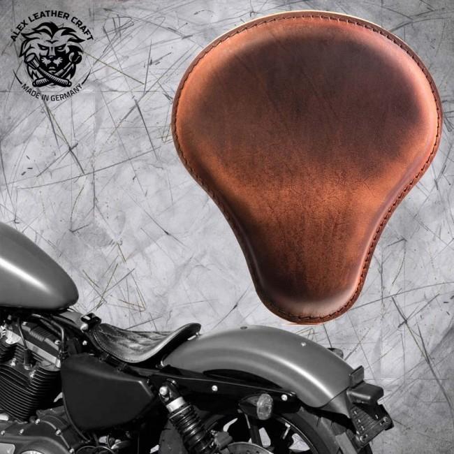 Solo Sitz Harley Davidson Sportster 04-20 Vintage Braun