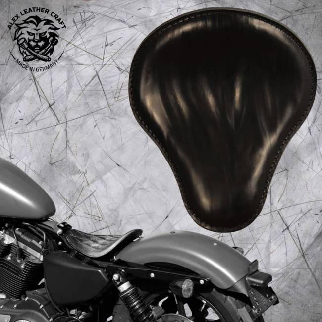 "Solo Sitz Harley Davidson Sportster 04-20 ""Knitter"" Schwarz"