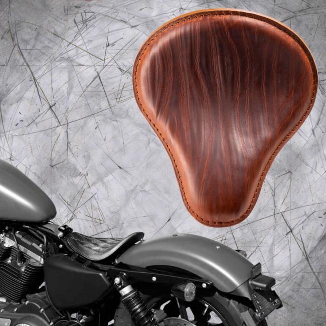 "Solo Sitz Harley Davidson Sportster 04-20 ""Knitter"" Cognac"
