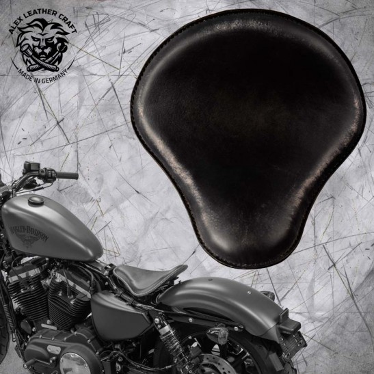 Solo Sitz + Montage Kit Harley Davidson Sportster 04-20 Vintage Schwarz