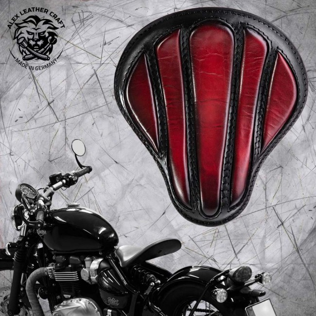 "Triumph Bonneville Bobber Seat since 2016 ""Standard"" Optimus Dark Cherry"