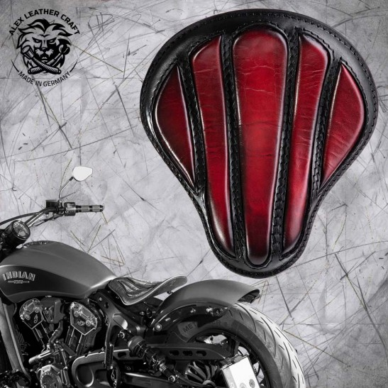"Bobber Solo Seat for Indian Scout since 2017 ""Standard"" Optimus Dark Cherry"