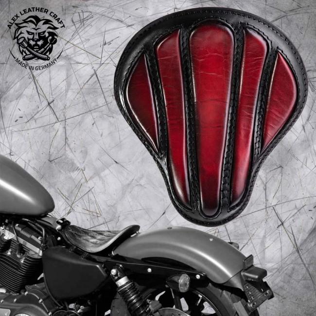 """Solo Sitz Harley Davidson Sportster 04-20 """"Optimus"""" dunkle Kirschfarbe"""