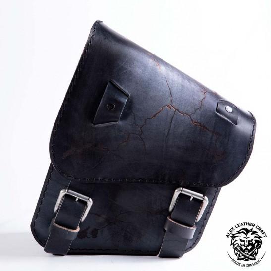 Sacoche de moto pour Harley Davidson Softail Vintage Noir Électro