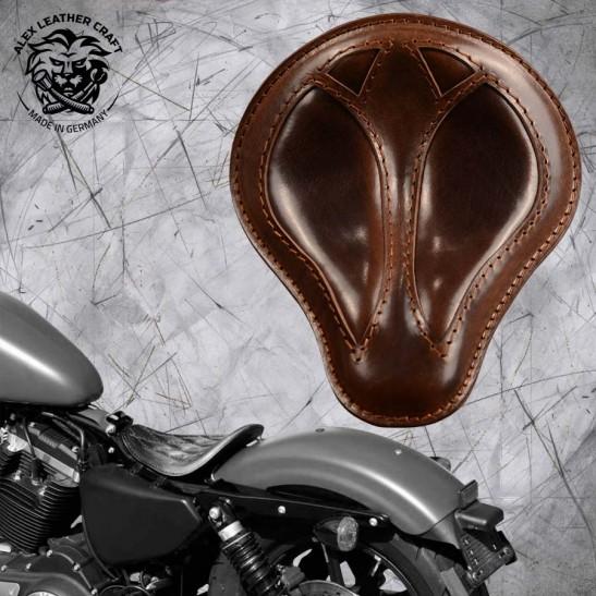 "Solo Selle Harley Davidson Sportster 04-20 ""Short"" Buffalo Marron"
