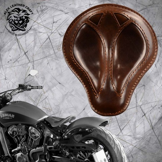 "Bobber Solo Seat for Indian Scout since 2017 ""Standard"" Short Buffalo Brown"