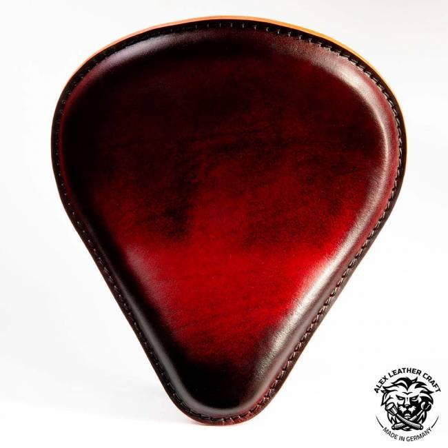 Bobber Solo Sitz ''Tropfen'' Vintage Rot