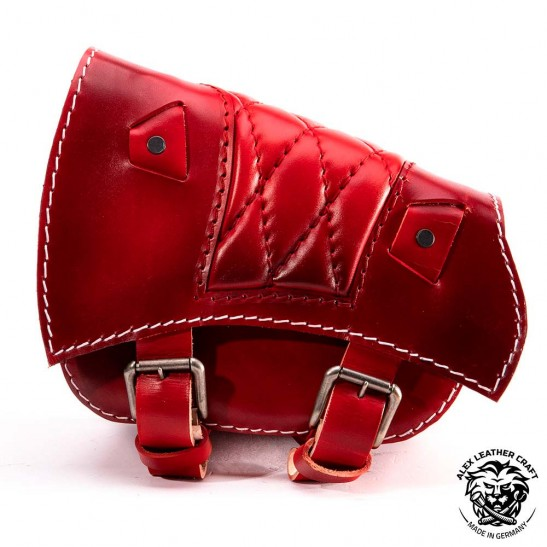 Satteltasche für Triumph Bonneville Bobber Rautenmuster Rot