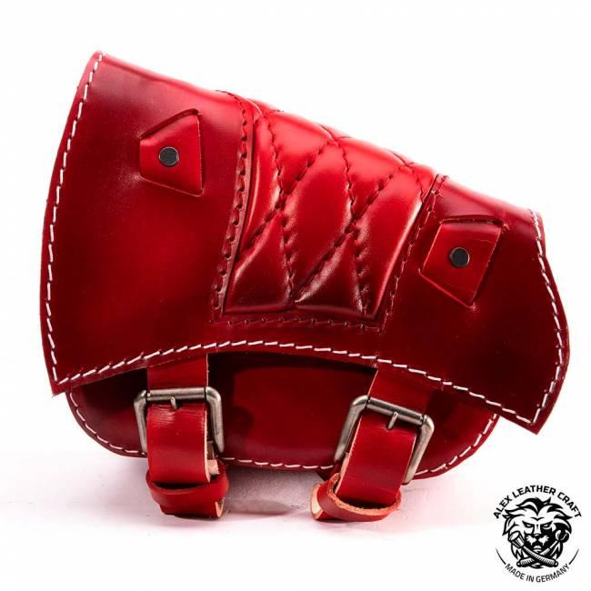 Saddlebag for Triumph Bonneville Bobber Diamond Red