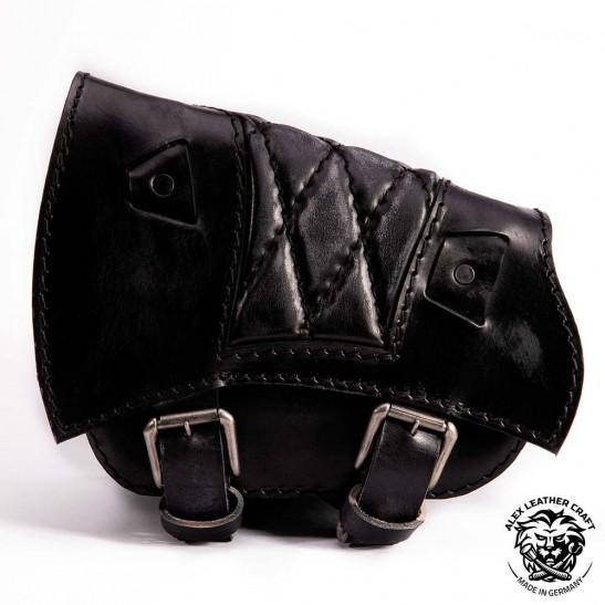 Sacoche de moto pour Triumph Bonneville Bobber Motif de diamant Vintage Noir