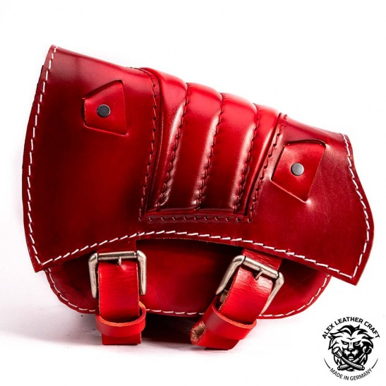 Saddlebag for Triumph Bonneville Bobber Red V2