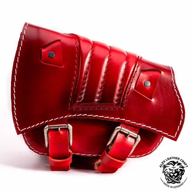 Saddlebag for Triumph Bonneville Bobber Red V2