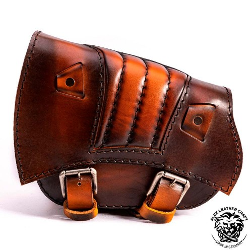 Saddlebag for Triumph Bonneville Bobber Saddle Tan V2