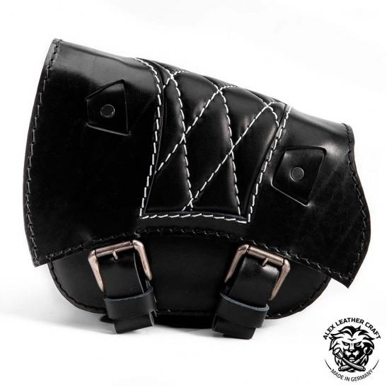 Sacoche de moto pour Triumph Bonneville Bobber Motif de diamant Noir et blanc