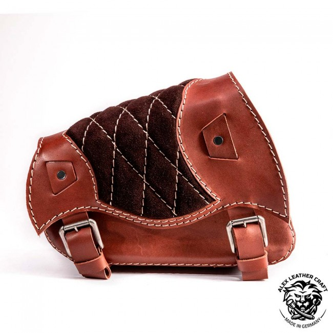 Motorcycle Saddlebag Sportster 1988-2020 Gloss and Velvet Brown Diamond